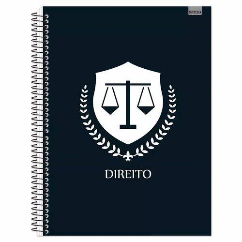 Caderno Espiral Capa Dura 10 Matérias Direito