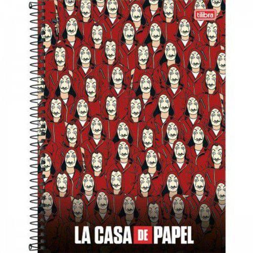 Caderno Espiral Capa Dura 10 Matérias La Casa de Papel 03