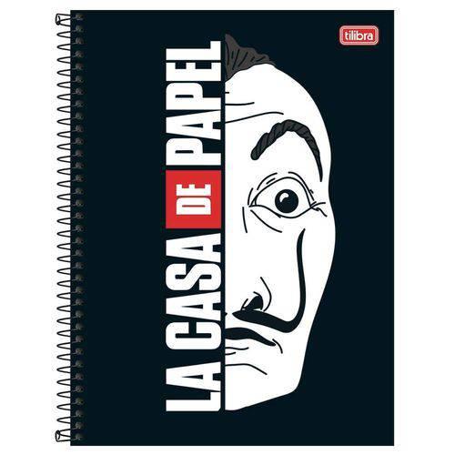 Caderno Espiral Capa Dura 10 Matérias La Casa de Papel 01