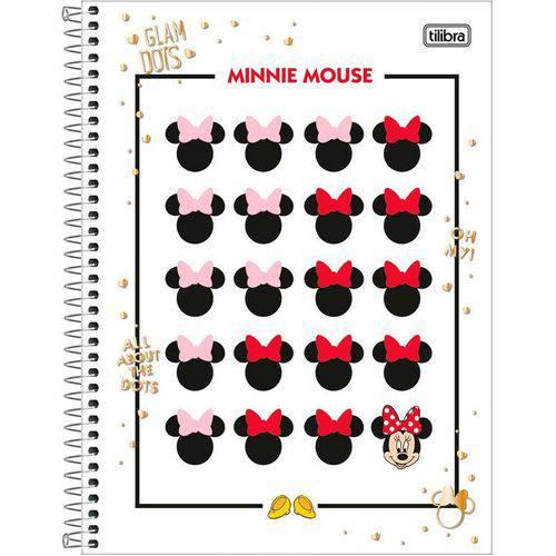 Caderno Espiral Capa Dura 10 Matérias Minnie Mouse 03