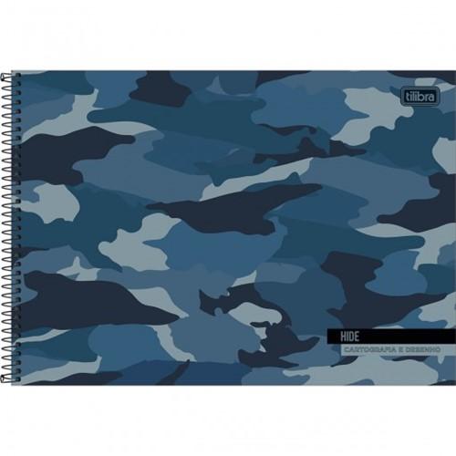 Caderno Espiral Capa Dura Cartografia e Desenho Hide 80 Folhas (Pacote com 4 Unidades) - Sortido