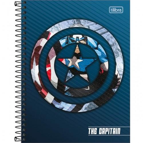 Caderno Espiral Capa Dura Colegial 1 Matéria Avengers Heroes 80 Folhas - Sortido (Pacote com 4 Unidades)