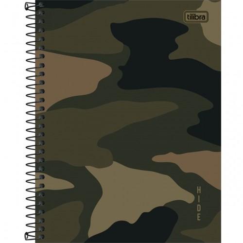 Caderno Espiral Capa Dura Colegial 10 Matérias Hide 160 Folhas