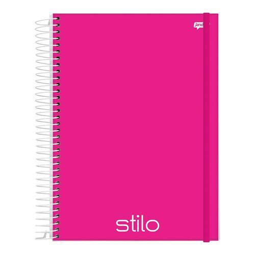 Caderno Espiral Capa Dura PP Universitário 1 Matéria 96 Folhas Stilo Pink Jandaia