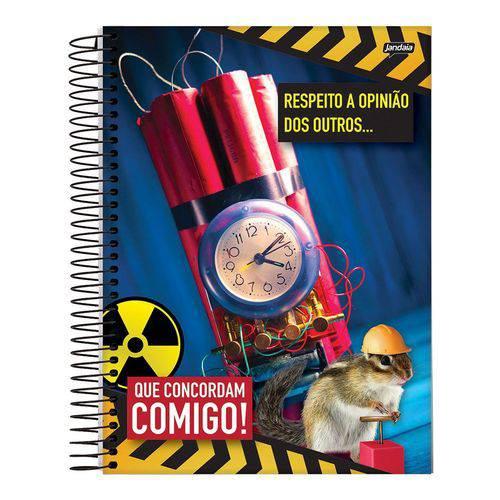 Caderno Espiral Capa Dura Universitário 20 Matérias 400 Folhas Insano Dinamite Jandaia