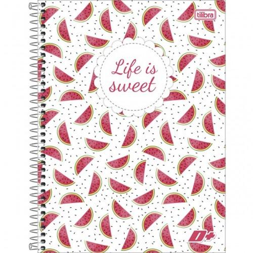 Caderno Espiral Capa Dura Universitário 16 Matérias D+ Feminino 320 Folhas - Sortido (Pacote com 2 Unidades)
