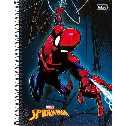Caderno Espiral Capa Dura Universitário 1 Matéria 96 Folhas Spider-man Tilibra Tilibra