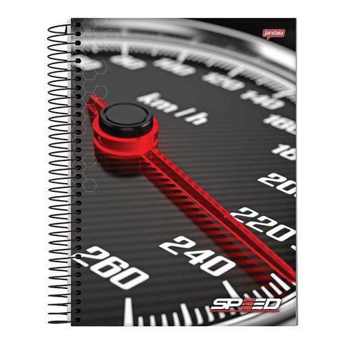 Caderno Espiral Capa Dura Universitário 1 Matéria 96 Speed Jandaia