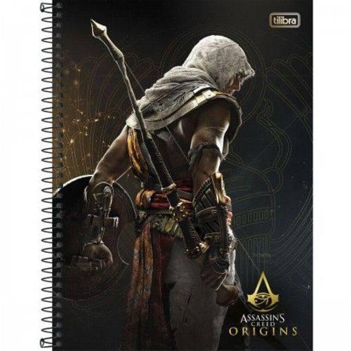 Caderno Espiral Capa Dura Universitário 1 Matéria Assassin'S Creed - 96 Folhas