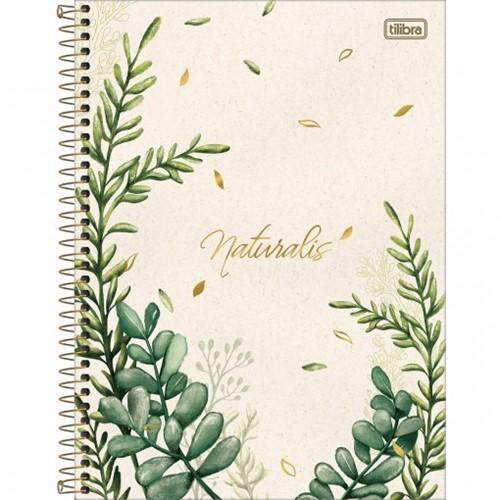 Caderno Espiral Capa Dura Universitário 1 Matéria Naturalis 80 Folhas - Sortido (Pacote com 4 Unidades)