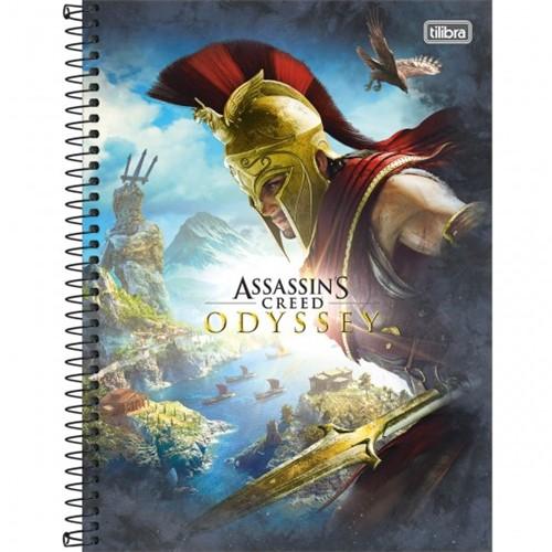 Caderno Espiral Capa Dura Universitário 16 Matérias Assassin's Creed 256 Folhas - Sortido