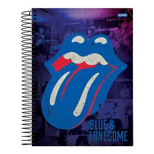 Caderno Espiral Capa Dura Universitário 10 Materias 200 Folhas Rolling Stones Lonesome Jandaia