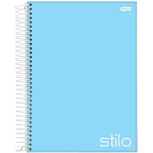 Caderno Espiral Capa Dura Universitário 10 Matérias 200 Folhas Stilo Azul Jandaia
