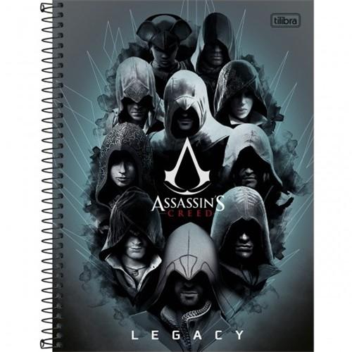 Caderno Espiral Capa Dura Universitário 10 Matérias Assassin's Creed 200 Folhas - Sortido (Pacote com 4 Unidades)