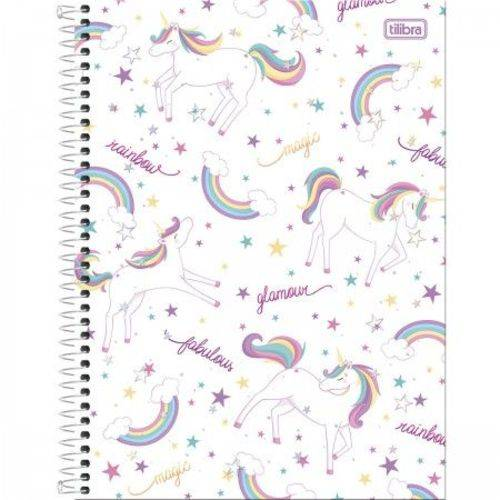Caderno Espiral Capa Dura Universitário 10 Matérias BLINK - 160 Folhas Mod 04