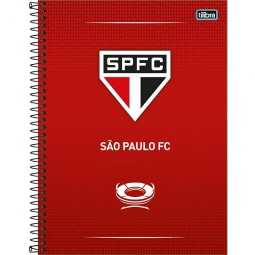 Caderno Espiral Capa Dura Universitário 10 Matérias Clube de Futebol São Paulo 160 Folhas - Sortido (Pacote com 4 Unidades)