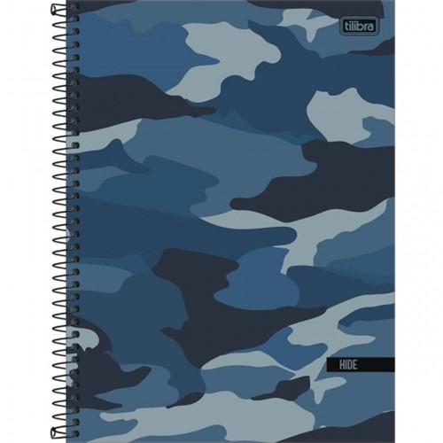 Caderno Espiral Capa Dura Universitário 10 Matérias Hide 160 Folhas - Sortido