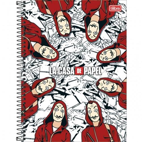 Caderno Espiral Capa Dura Universitário 1 Matéria La Casa de Papel 80 Folhas - Sortido 293849