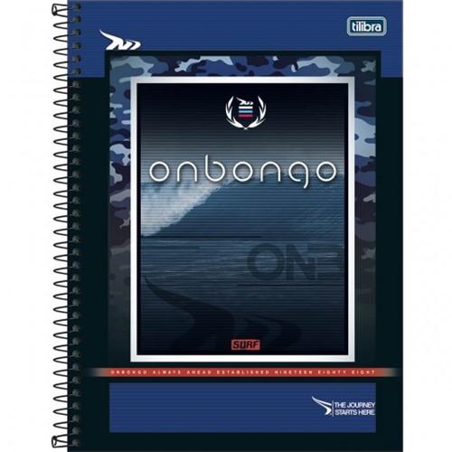 Caderno Espiral Capa Dura Universitário 10 Matérias Onbongo 160 Folhas (Pacote com 4 Unidades) - Sortido