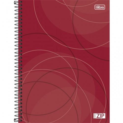 Caderno Espiral Capa Dura Universitário 10 Matérias Zip 160 Folhas - Sortido (Pacote com 4 Unidades)