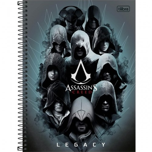 Caderno Espiral Capa Dura Universitário 16 Matérias Assassin's Creed 320 Folhas - Sortido (Pacote com 2 Unidades)