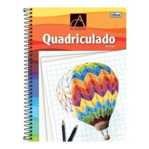 Caderno Espiral Capa Dura Universitário Quadriculado 10x10mm Académie 96 Folhas Balão Tilibra