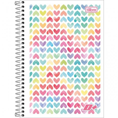 Caderno Espiral Capa Flexível 1/4 D+ 96 Folhas - Sortido (Pacote com 10 Unidades)