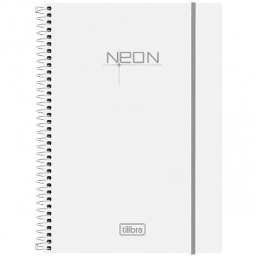 Caderno Espiral Capa Plástica Universitário 1 Matéria Neon Branco 96 Folhas 148059