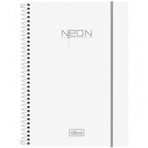 Caderno Espiral Capa Plástica Universitário 10 Matérias Neon Branco 200 Folhas 148041