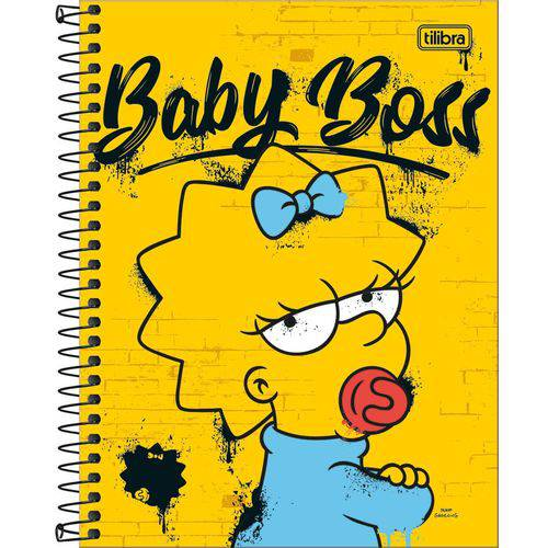 Caderno Espiral Colegial Simpsons 1X1 - 80 Folhas (24x17cm) - Tilibra