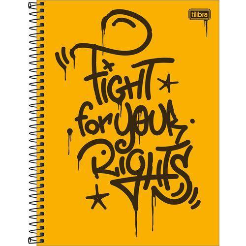 Caderno Espiral Graffiti 1x1 - 80 Folhas - Tilibra