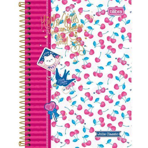 Caderno Espiral Jolie Classic 96 Folhas - Tilibra