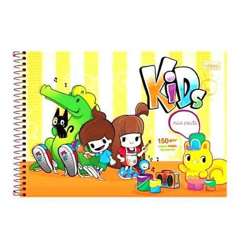 Caderno Espiral Meia Pauta Kids 40 Folhas Tilibra