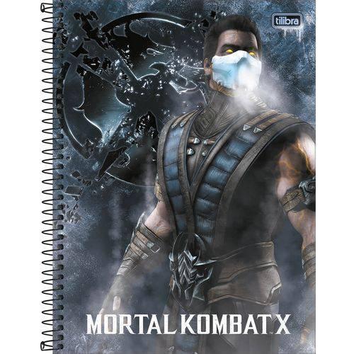 Caderno Espiral Mortal Kombat 16x1 - 256 Folhas - Tilibra