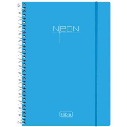 Caderno Espiral Neon Blue 96 Folhas - Tilibra