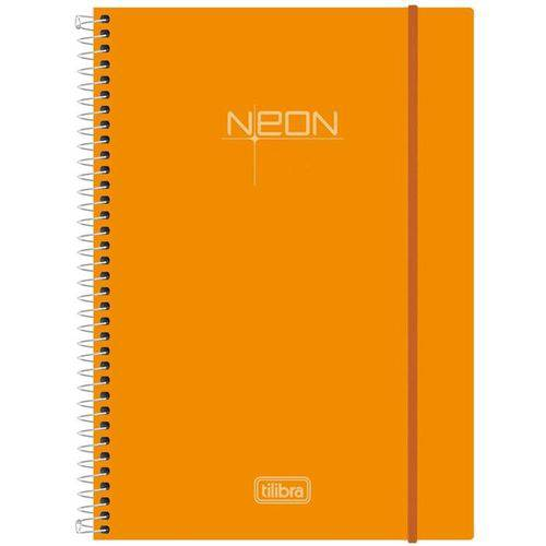 Caderno Espiral Neon Oranges 10x1 - 200 Folhas - Tilibra