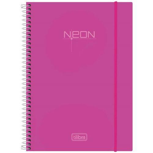 Caderno Espiral Neon Pink 200 Folhas - Tilibra