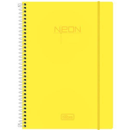 Caderno Espiral Neon Yellow 200 Folhas - Tilibra