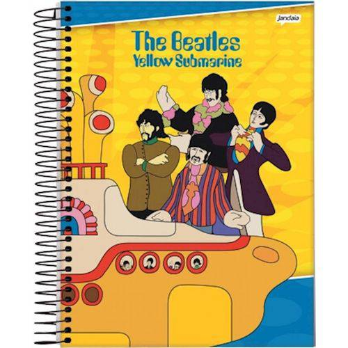 Caderno Espiral Univ Cd 1x1 96fls Beatles Yellow Submarine Jandaia