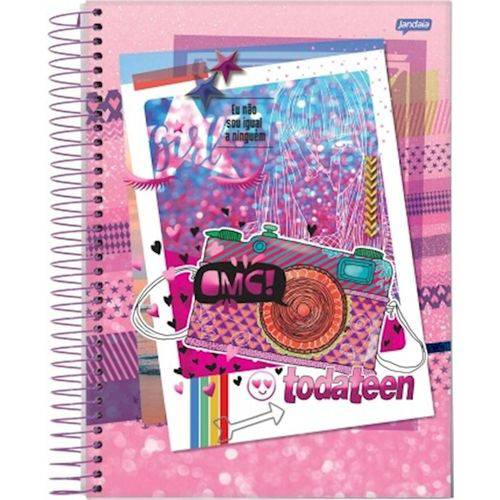 Caderno Espiral Univ Cd 1x1 96fls Toda Teen Jandaia