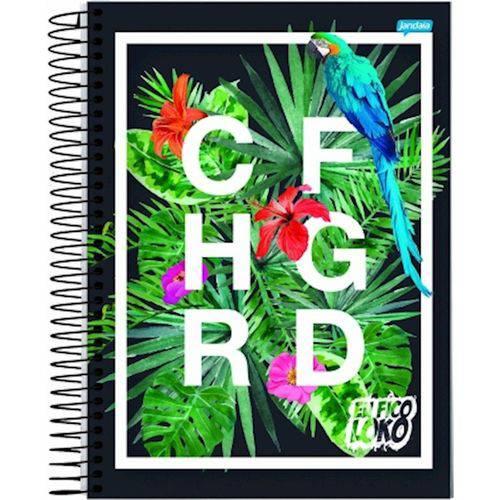 Caderno Espiral Univ Cd 1x1 96fls Youtubers Christian Figueiredo Jandaia