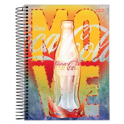 Caderno Espiral Universitário 10x1 200 Fls Capa Dura Jandaia - Coca-Cola Capa 2