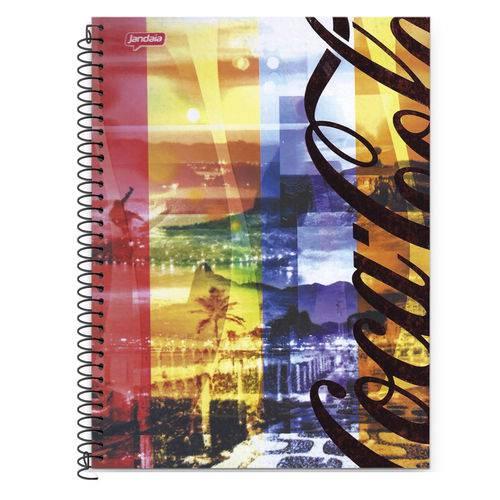 Caderno Espiral Universitário 10x1 200 Fls Capa Dura Jandaia - Coca-Cola Capa 6