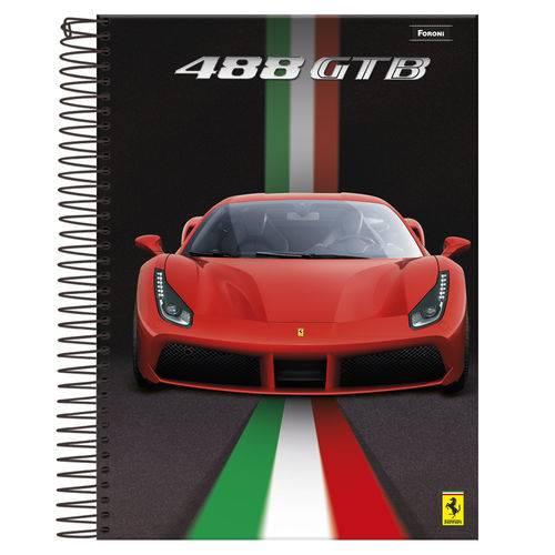 Caderno Espiral Universitário 1x1 96 Fls Capa Dura Foroni - Ferrari Capa 2