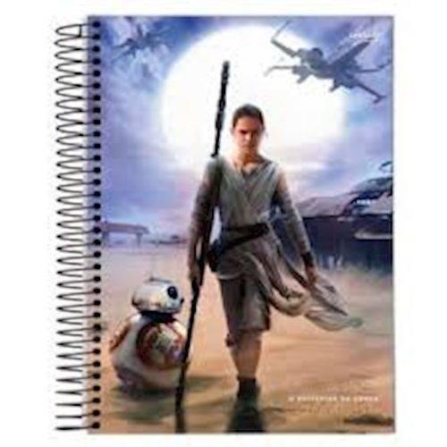 Caderno Espiral Universitario Capa Dura 200 Folhas Star Wars 61578 Jandaia