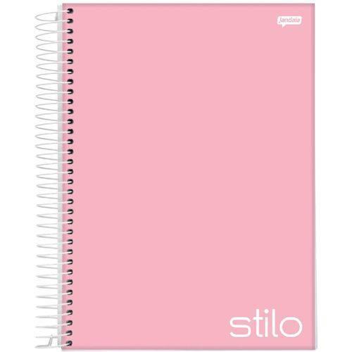 Caderno Espiral Universitário Capa Dura 1 Matéria 96 Folhas Stilo Rosa Jandaia