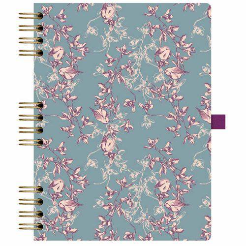 Caderno Floral 177 Azul Ótima