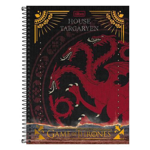 Caderno Game Of Thrones - House Targaryen - 1 Matéria - Tilibra