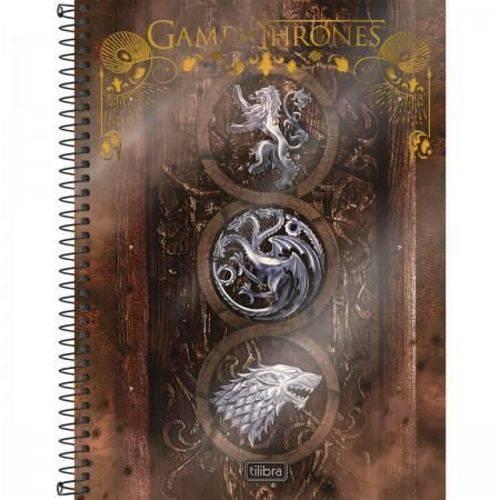 Caderno Game Of Thrones III Tilibra C/ 10 Matérias - Capa Dura - 200 Folhas