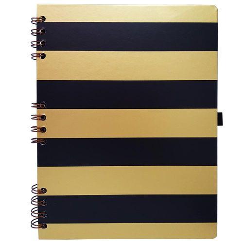 Caderno Gold e Kraft 177 Preto Ótima 1026485